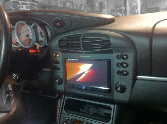 Double din in a porsche is meant to be!