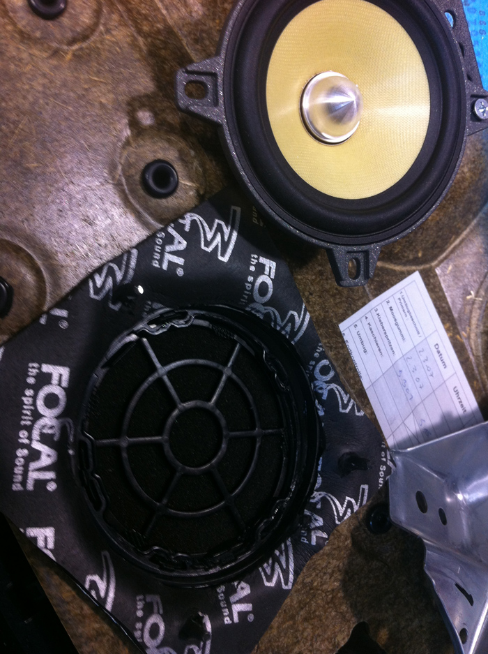 Focal K2 Power 100KRS component system replacing the front and rear speakers