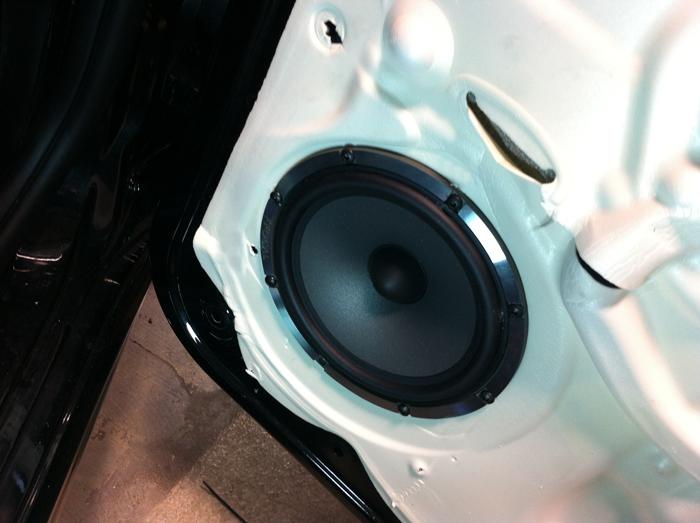 Focal Polyglass speaker installed in the door. Perfect fit.