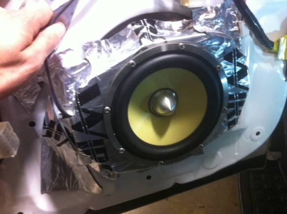 "ABS plate made to convert 6x9 to 6.5"" speaker."