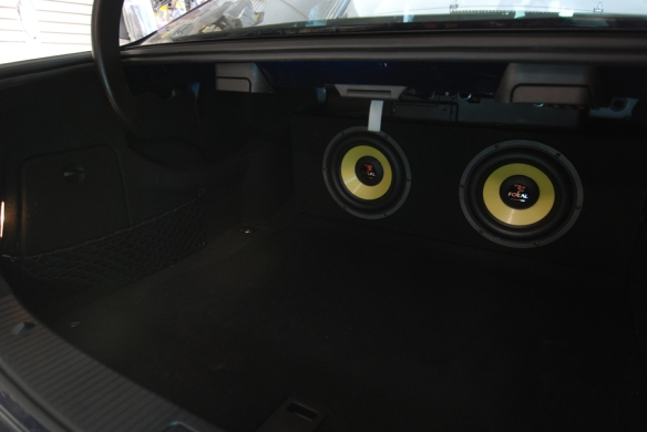 Amplifier still accessible for tuning on the left compartment