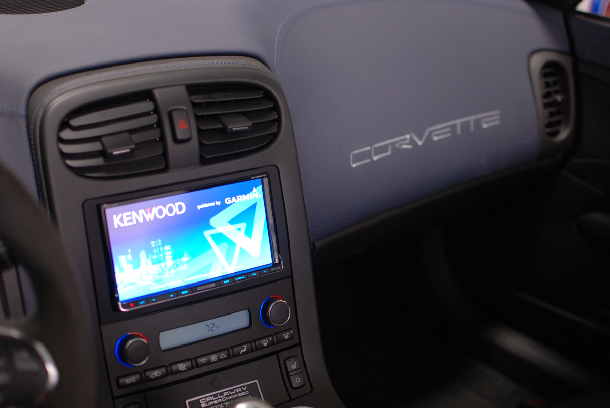 Corvette on hidden car stereo compartment