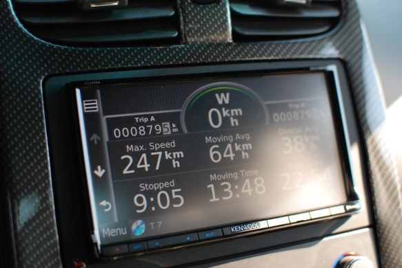 Our client took the vette out to calibrate the navigation... I wonder how accurate it is....