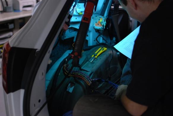 Rewiring the factory amplifier.