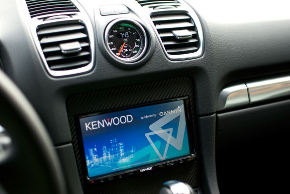 Kenwood DNX 891 installed. Custom made bracket to fit the new 2015 Porsche Cayman since no one offers an aftermarket solution yet.....yes this will be one of the 1st installs of this kind.