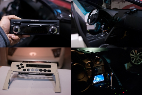 Process to install a double din in a Lamborghini Murcielago. One amazing sounding Lamborghini!