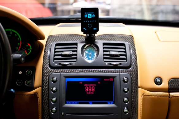 Bury device adds bluetooth hands free calling and wireless audio streaming. Installed in such a way no wires are visible and no modification to the vehicle.
