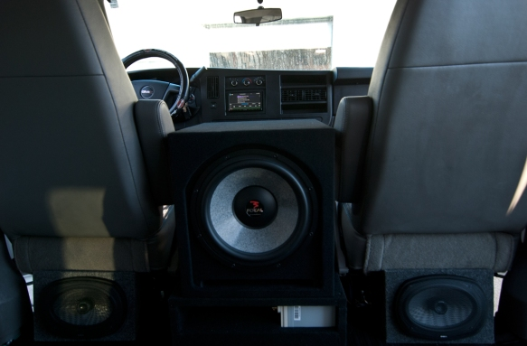 Complete 10K focal sound system in a work van.