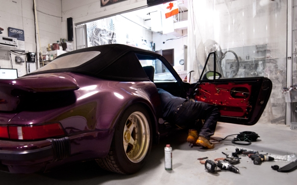 TV personality Frank Cozzolino brought his project Porsche to Ultra Auto Sound.  With a project like this...he knows to leave it with the professionals to make it right!