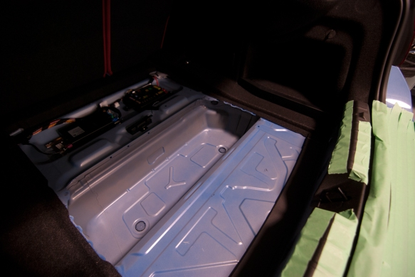 Great space in the trunk for a subwoofer.