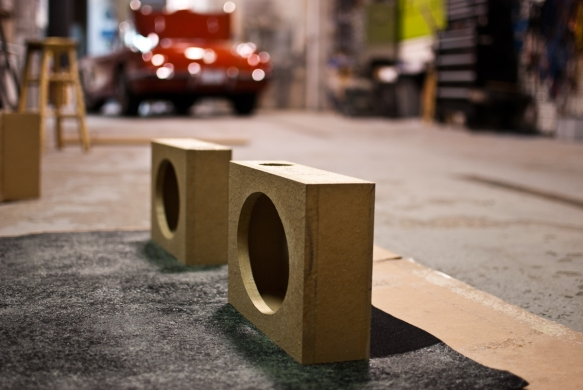 Speaker pods made for the rear