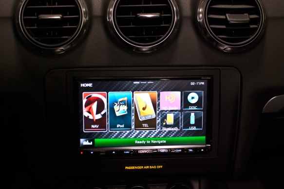 New Kenwood double-din installed with bluetooth and Garmin navigation