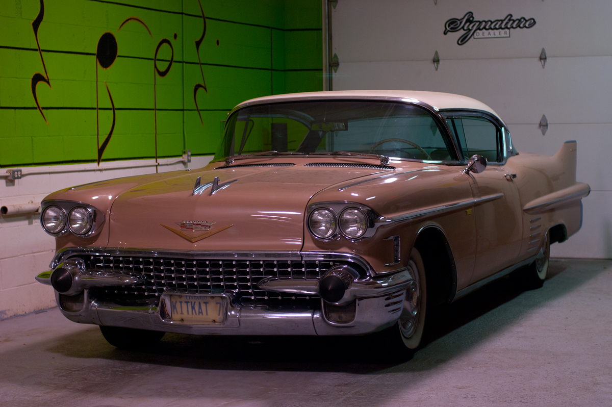 classic 1958 cadillac deville made practical ultra auto sound. Black Bedroom Furniture Sets. Home Design Ideas