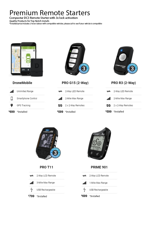 Premium-remote-starters-compustar-ultraautosound-toronto-mississauga